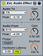 Ableton Live External Audio Effect